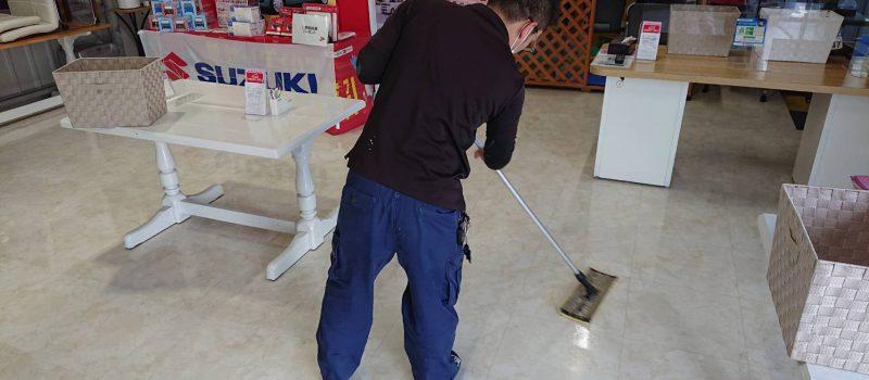 床清掃のジョー